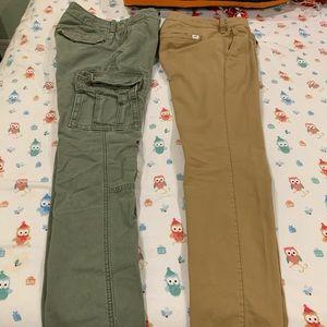 2 Pair of Hollister Khakis